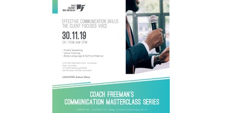 Communication Skills Masterclass - The Client Focused Voice tickets