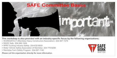 SAFE Committee Basics - Selkirk, MB tickets