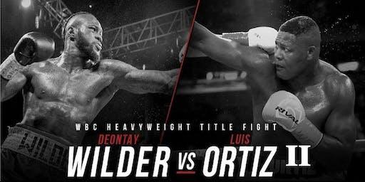 WBC Title - Wilder vs Ortiz II