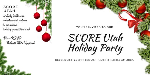 SCORE Utah Holiday Luncheon 2019