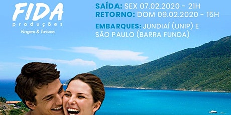 Excursão Arraial do Cabo/Cabo Frio ingressos