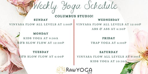 Yoga Classes at RawYoga614: Columbus Studio