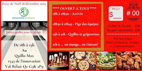 Party RED Québec 18 décembre 2019 Quillo-Max billets