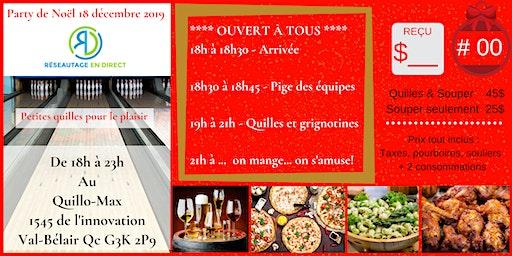 Party RED Québec 18 décembre 2019 Quillo-Max
