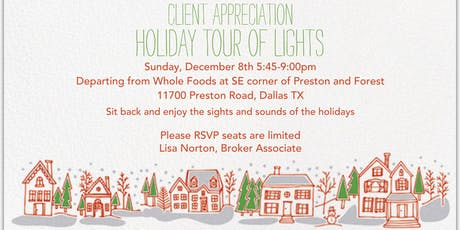 Client Appreciation- Holiday Tour of Lights tickets