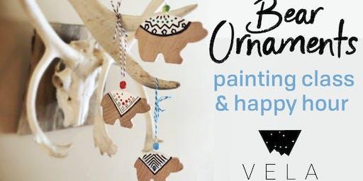 Wood Bear Ornament Painting Class