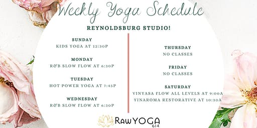 Yoga Classes at RawYoga614: Reynoldsburg Studio