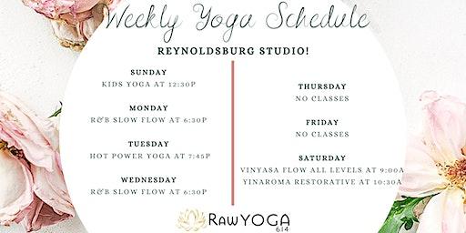 Yoga Classes at RawYoga614: Reynoldsburg Studio