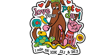 2020 Love Your Pet Day 1M, 5K, 10K, 13.1, 26.2 -Tampa bilhetes