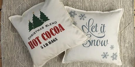 Christmas Stencilled Pillows tickets