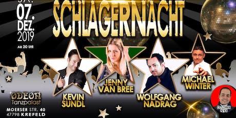 Schlagernacht Tanzpalast Odeon Krefeld 07.12.2019 Tickets