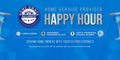 Home Service Provider Happy Hour