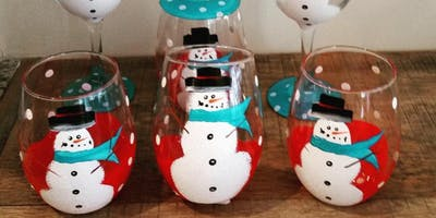 Dec 8th Wine Glass Paint Night With JessiKay