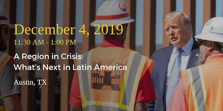 A Region in Crisis: What's Next in Latin America tickets