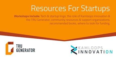 Startup Basics: Resources tickets
