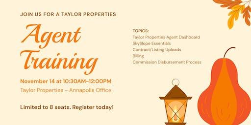 Taylor Properties Agent Training