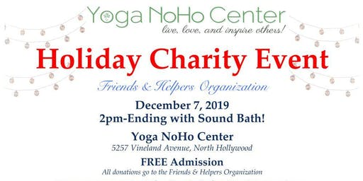 Holiday Charity Event for Friends & Helpers Organization