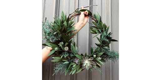 Holiday Wreath Workshop with August Floral Design