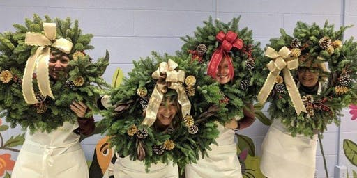 Designing Wreaths at Calico Corners with Alice's Table