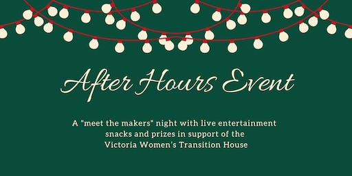 After Hours Event: a night of music, socializing & shopping for a cause.