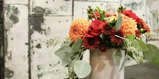 Create a Thankfulness Bouquet... Over Wine with Friends and Flowers