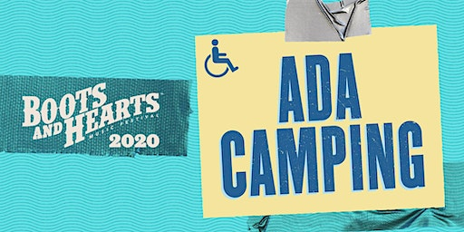 Boots and Hearts 2020 - ADA Camping & Parking
