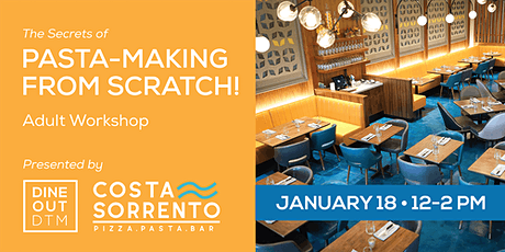 Secrets of Pasta-Making: Adult Workshop Jan.18 tickets