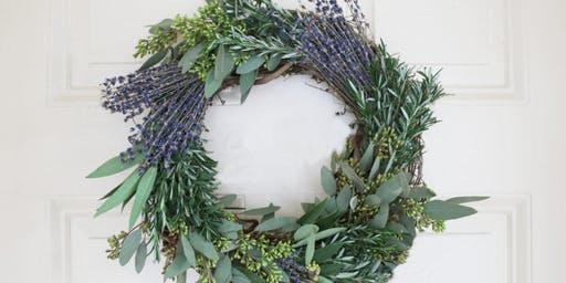 Herbs de Provence Wreath Workshop at Trove Warehouse with Alice's Table