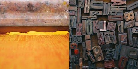DIY Screen Printing & Letterpress Workshop tickets