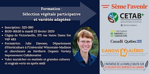 Formation sur la sélection végétale participative et les variétés adaptées