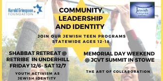 VTeen Shabbat Retreat - Youth Activism as Jewish Identity