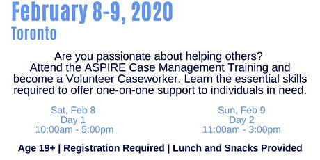 ASPIRE Caseworkers Training (Toronto) tickets