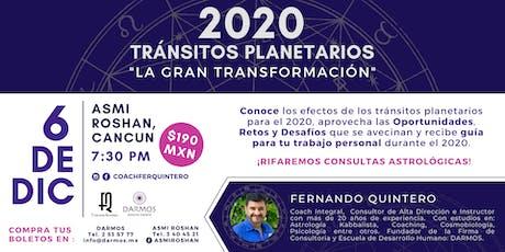 """Conferencia: """"2020 Tránsitos Planetarios: La Gran Transformación"""" entradas"""