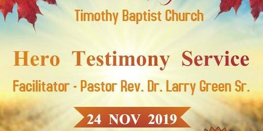 Hero Testimony Service