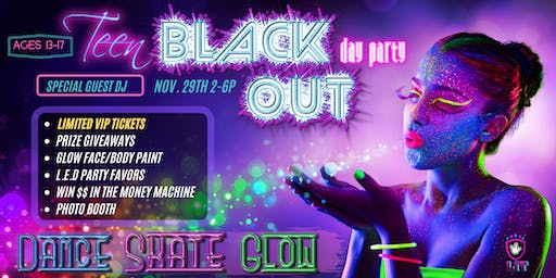 Teen Black Out Skate Dance & Glow Event