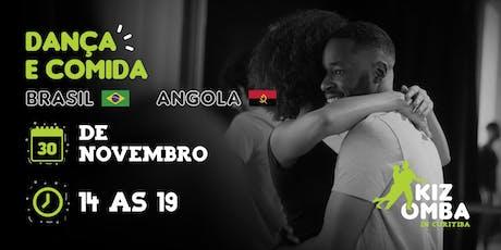 Dança e Comida  Brasil x Angola ingressos