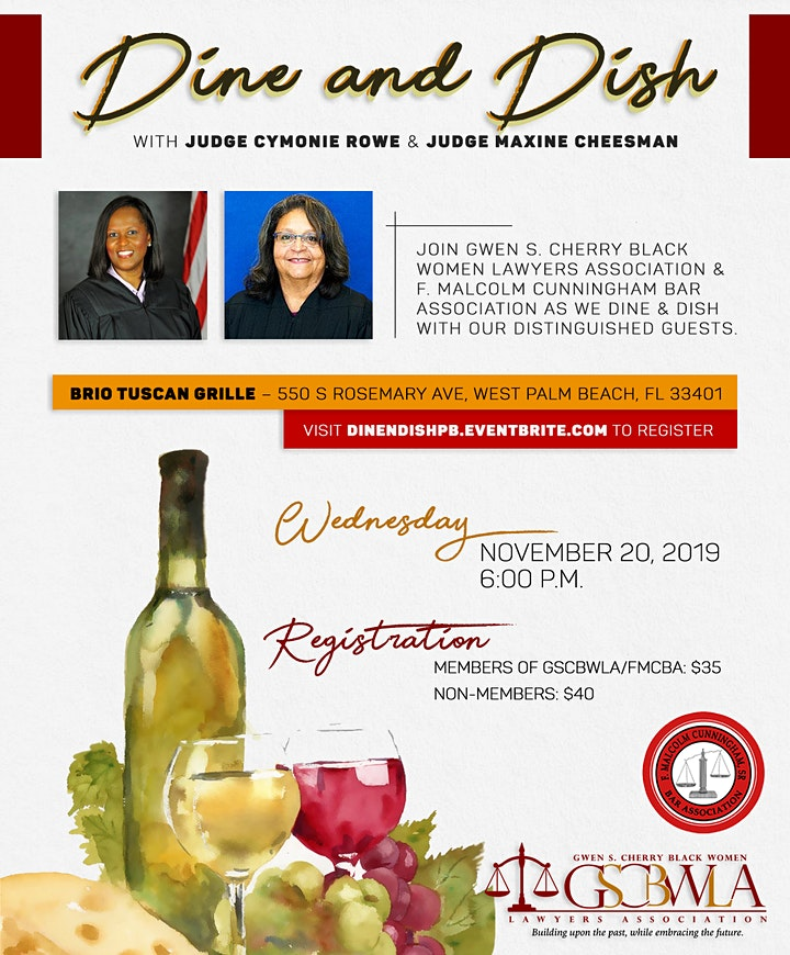 Dine & Dish with Judges Rowe and Cheesman image