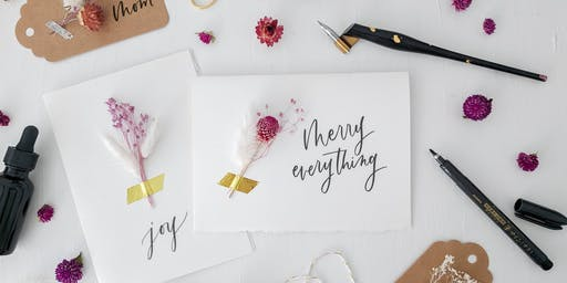 Modern Calligraphy for the Holidays