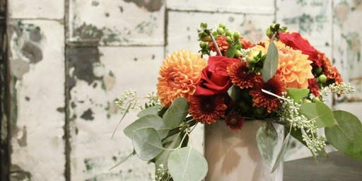 Create a Thanksgiving Centerpiece Bouquet with Friends and Flowers