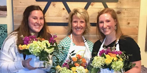 Galentine's Day Blooms @ Urban Alchemy Coffee + Wine Bar with Alice's Table