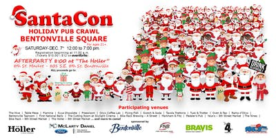 SantaCon - Downtown Bentonville