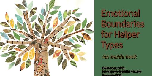 Emotional Boundaries for Helper Types PORTLAND