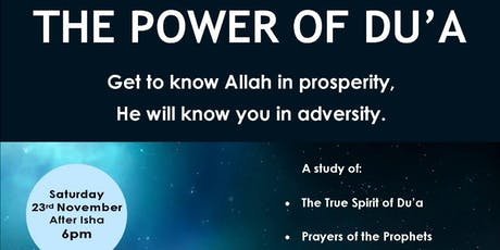 The Power of Du'a tickets