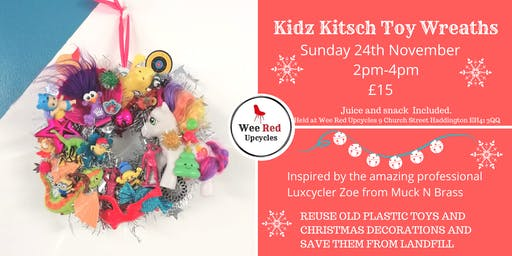 Kitsch Kids Xmas Toy Wreath Workshop