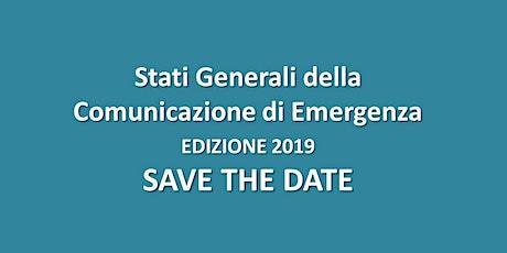 Stati Generali della Comunicazione di Emergenza 2020 biglietti