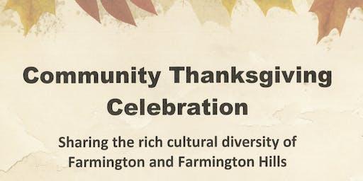 Community Thanksgiving Celebration