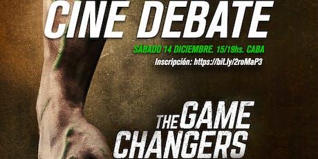 """Cine debate """"Game changers"""" con el equipo de SAMEV entradas"""