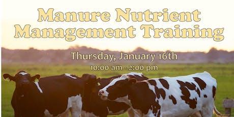 2020 Manure Nutrient Management Training tickets