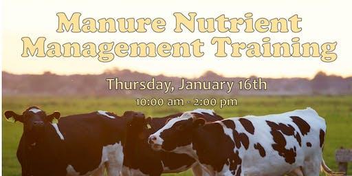 2020 Manure Nutrient Management Training