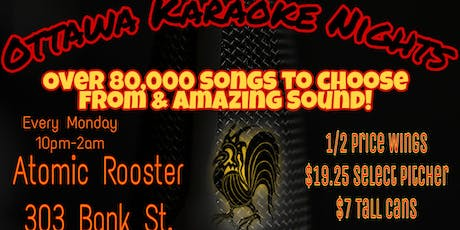 Karaoke Mondays @ Atomic Rooster. tickets